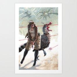 Raptor Wars Art Print