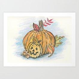 Country Pumpkin Art Print