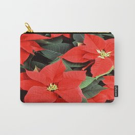 Beautiful Red Poinsettia Christmas Flowers Carry-All Pouch