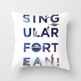 The Universe of Singular Fortean Throw Pillow