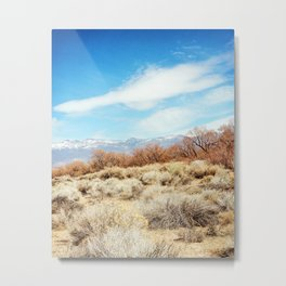 View of the Sierra Nevada Mountains from Highway 395 Metal Print