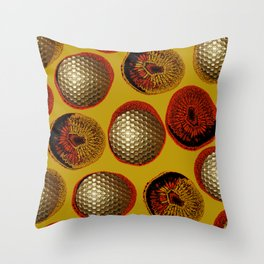 RED, YELLOW & GOLD Throw Pillow