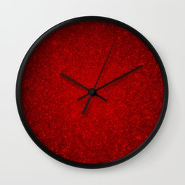 Ruby Red Sparkling Jewels Pattern Wall Clock