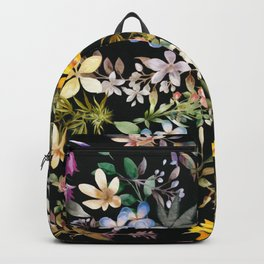 Flowers with Hidden Pot Leaves Backpack