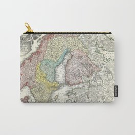 Map of Scandinavia, Norway, Sweden, Denmark and Finland Carry-All Pouch
