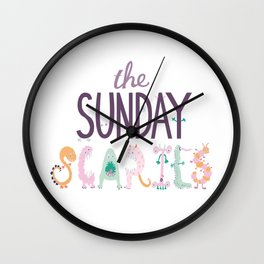The Sunday Scaries Wall Clock