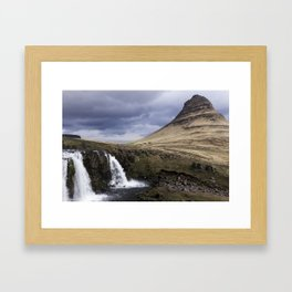 Kirkjufell Waterfalls in Iceland Framed Art Print