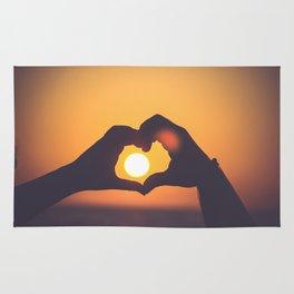 sun heart Rug