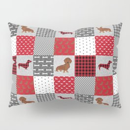 Doxie Quilt - duvet cover, dog blanket, doxie blanket, dog bedding, dachshund bedding, dachshund Pillow Sham