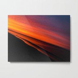 Violent Orange Metal Print