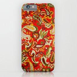 Colorful Indonesian Batik Paisley Pattern iPhone Case