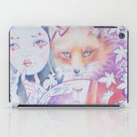 kitsune iPad Cases featuring kitsune kitsune by Eszter Nagy