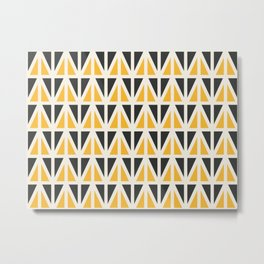 Sunny Triangles Metal Print