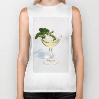 martini Biker Tanks featuring  Peppermint Martini by Guna Andersone & Mario Raats - G&M Studi