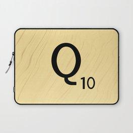 Scrabble Q - Large Scrabble Tile Letter Laptop Sleeve