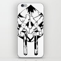 mf doom iPhone & iPod Skins featuring Bandit Doom by ScientisTechni