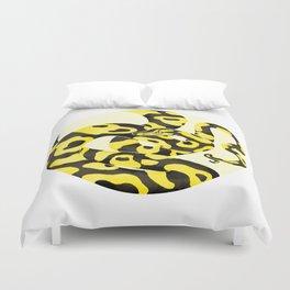 Yellow Snake Duvet Cover