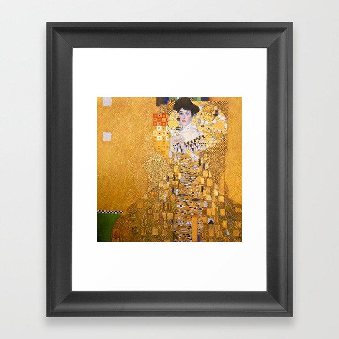 4215c860f46e Gustav Klimt - The Woman in Gold Framed Art Print by constantchaos ...