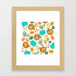Pumpkin Spice Love Framed Art Print