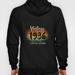 Vintage 1936 Limited Edition Birthday Gift Hoody