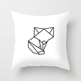 Tiny Origami Fox Throw Pillow