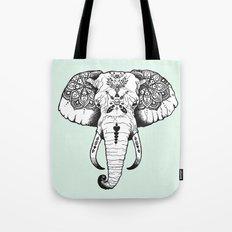 Elephant Tattooed Tote Bag