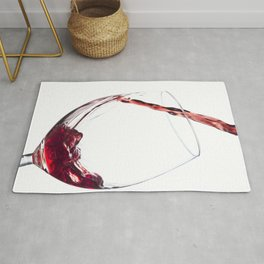 Elegant Red Wine Photo Rug