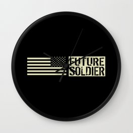 Future Soldier (Black Flag) Wall Clock