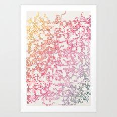 pattern series 087 trail 2 Art Print