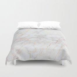 White Marble 004 Duvet Cover