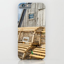 Lobster Traps on the Wharf iPhone Case