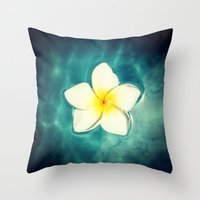 lily Throw Pillows featuring Lily by Ken Seligson