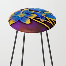 Radiating Flowers Counter Stool