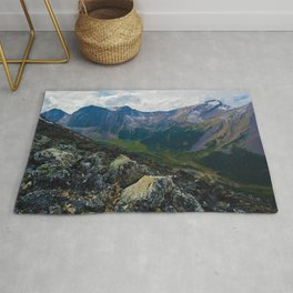 Down in the Valley, Pyramid Mt in Jasper National Park, Canada Rug
