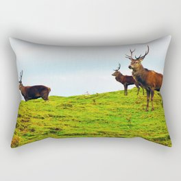 Stags on the hill Rectangular Pillow