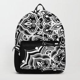 Black Heart Mandala Backpack