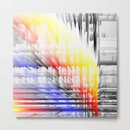 city color fabric Metal Print