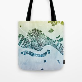 Venice Italy City Map Tote Bag