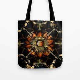 Blood Moon Lotus Mandala Tote Bag