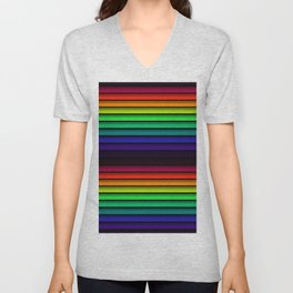 Spectrum - Rainbow Stripes - Colorful - Manafold Art Unisex V-Neck