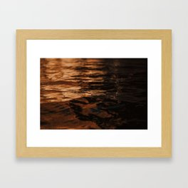 Lake Powell Copper Water Framed Art Print