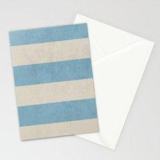 vintage light blue stripes Stationery Cards