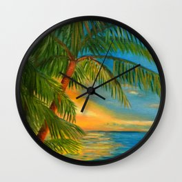 "Sunset ""Reflections"" Key West Wall Clock"