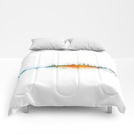 Istanbul City Skyline Hq v3 Comforters