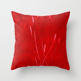 Scratch! red, scarlet, crime, guilt, passion, amore, nails, wild, crazy, omg, blood, heart, deep,  Throw Pillow