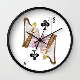 Harp player Wall Clock