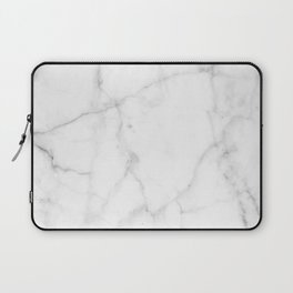 Pure Solid White Marble Stone All Over Laptop Sleeve