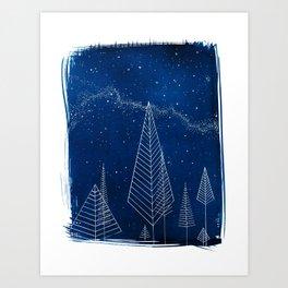 Celestial Trees Art Print