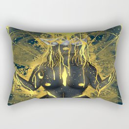 Pouring in gold. Rectangular Pillow