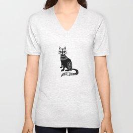 Paisley Cat Unisex V-Neck
